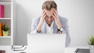 Angry computer user