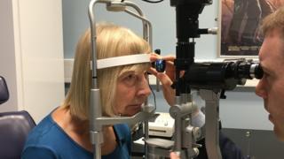 Eye patient Elaine Manna