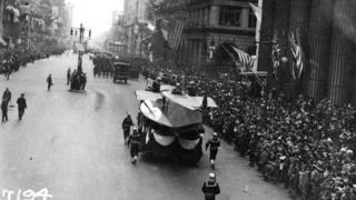 Desfile na Filadélfia em 28 de setembro de 1918