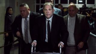 Harvey Weinstein llegando al tribunal de Nueva York el lunes 6 de enero