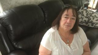 Nicola Pinhorn, 70, from Llanbedrog, sat down at her home