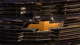 A 2015 Silverado truck logo