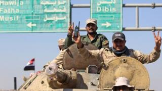 عناصر من القوات العراقية تدخل كركوك