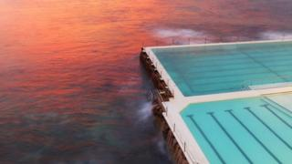 A pool next to the sea at Bondi in Sydney