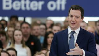Chancellor George Osborne delivers a speech on the economic impact of the UK