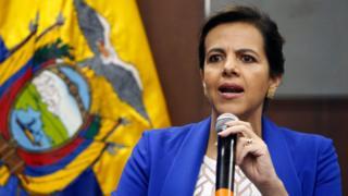 Interior Minister María Paula Romo