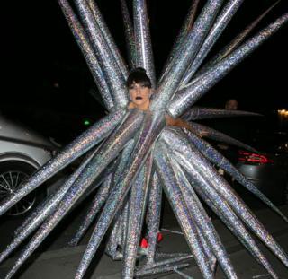 Lady Gaga wearing Jack Irving's design