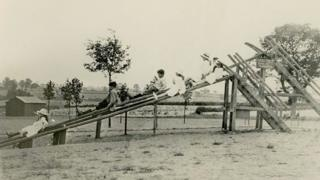 Wicksteed Park's first wooden slide.