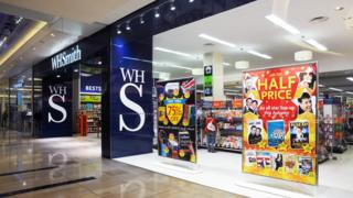 A WH Smith high street store