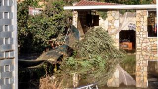 The flooded house where nine people of the same family died after a small river burst its banks in Casteldaccia near Palermo on the southern Italian island of Sicily.