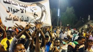 Протесты с флагами