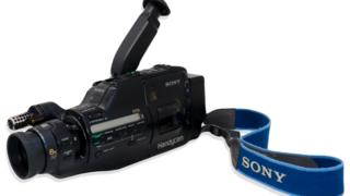 The Sony Video8 Handycam being auctioned in LA
