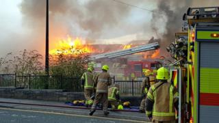 Hilltown market fire
