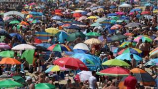 Bournemouth beach on 25 June 2020