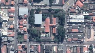 Imagem aérea da escola Raul Brasil, em Suzano