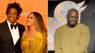 Jay-Z, Beyonce and Marvyn Harrison