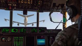 MC-130J being refuelled by a KC-135 Stratotanker