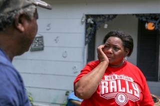 """It's much worse than I thought,"" said Mary Woodard when she saw her house for the first time"