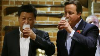 """Khi còn là thủ tướng, ông David Cameron nói Anh Quốc và Trung Quốc ở trong """"thời kỳ hoàng kim"""" của mối quan hệ thương mại"""