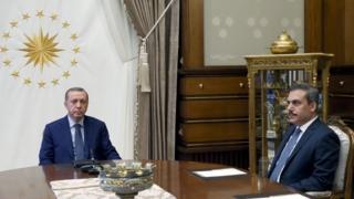 Recep Tayyip Erdoğan ve Hakan Fidan