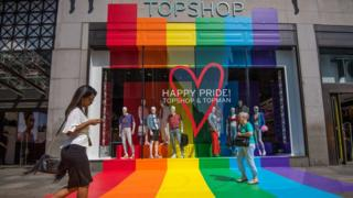 Top Shop for Pride in London