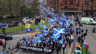 All under one banner march Glasgow