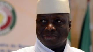 Le président gambien lors du dernier sommet de la CEDEAO
