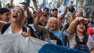 Protesta argentina