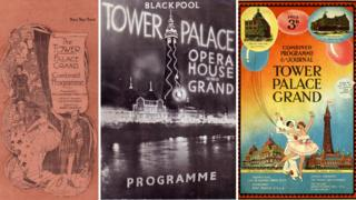 Blackpool Tower programmes through the ages