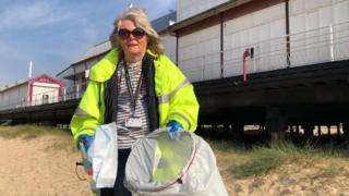 Councillor on Great Yarmouth beach