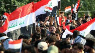 Иракта Сирияга урулган ракеталык соккуларга каршы нааразалык акциясы өттү.