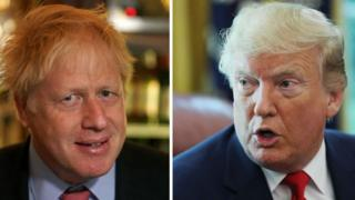 Composite image of Boris Johnson and Donald Trump
