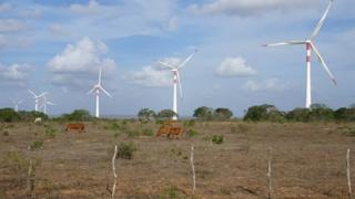 Fazendas eólicas no município de João Câmara