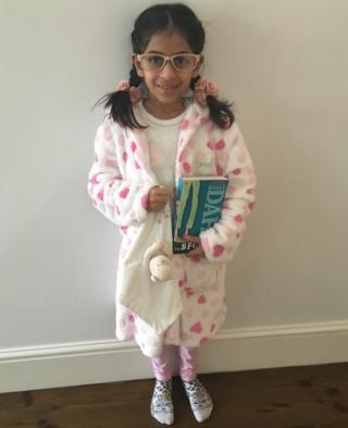 Eight-year-old Khadeeja from Leicester