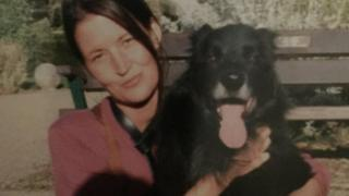 Alison Jane Farr-Davies and her dog, Max