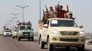 مقاتلون في جنوب اليمن