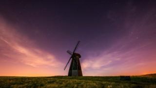 Windmill in darkness at Rottingdean