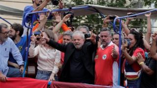 Lula discursa em São Bernardo