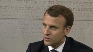 French President Emmanuel Macron, BBC interview