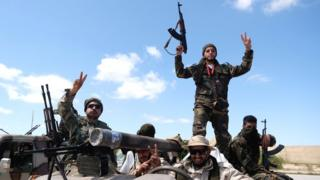 Tropas del Ejército de Liberación Libio en abril de 2019