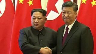 Shugaban Koriya ta Arewa Kim Jong-un da takwaransa na China Xi Jingping