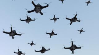 Enjambre de drones