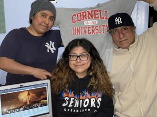 Ana with her parents accepts Cornell