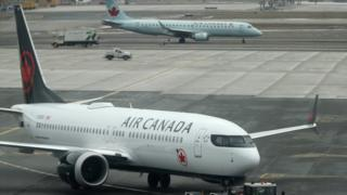 Air Canada plane - archive picture