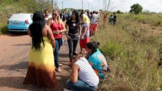 Relatives gather outside jail in Roraima after riot