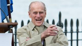 Prince Philip laughing