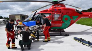 Wales Air Ambulance staff with the new incubator