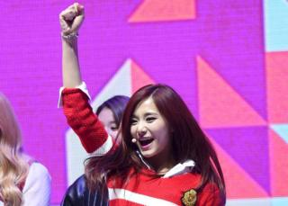 Chou Tzuyu, the only Taiwanese member of K-Pop girl group Twice, performs during the 2015 SBS Awards Festival in Seoul, South Korea, 30 December 2015.