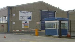 The former B/A aerospace factory in Kilkeel