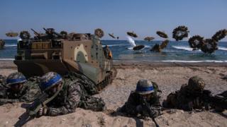 한미연합군사훈련은 매년 3월과 8월경 크게 두 차례 실시됐다